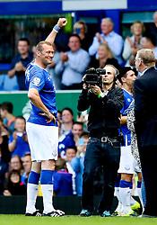 Everton's Duncan Ferguson is interviewed after the match - Mandatory by-line: Matt McNulty/JMP - 02/08/2015 - SPORT - FOOTBALL - Liverpool,England - Goodison Park - Everton v Villareal - Pre-Season Friendly