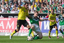 07.05.2011, Weserstadion, Bremen, GER, 1.FBL, Werder Bremen vs Borussia Dortmund, im Bild  Lucas Barrios (Dortmund #18) Per Mertesacker ( Werder #29 )   EXPA Pictures © 2011, PhotoCredit: EXPA/ nph/  Kokenge       ****** out of GER / SWE / CRO  / BEL ******