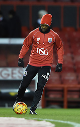 Bristol City's Kieran Agard warms up before the Johnstone's Paint Trophy south area final second leg game between Bristol City and Gillingham on 29 January 2015 in Bristol, England - Photo mandatory by-line: Paul Knight/JMP - Mobile: 07966 386802 - 29/01/2015 - SPORT - Football - Bristol - Ashton Gate Stadium - Bristol City v Gillingham - Johnstone's Paint Trophy