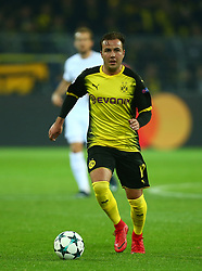 November 21, 2017 - Dortmund, Germany - Mario Gotze of Borussia Dortmund. during UEFA Champion  League Group H Borussia Dortmund between Tottenham Hotspur played at Westfalenstadion, Dortmund, Germany 21 Nov 2017  (Credit Image: © Kieran Galvin/NurPhoto via ZUMA Press)