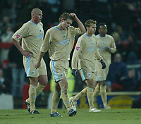 Photo: Aidan Ellis.<br /> Doncaster Rovers v Bristol City. Coca Cola League 1.<br /> 26/11/2005.<br /> Bristol players trudge back to the center after Doncaster's second goal