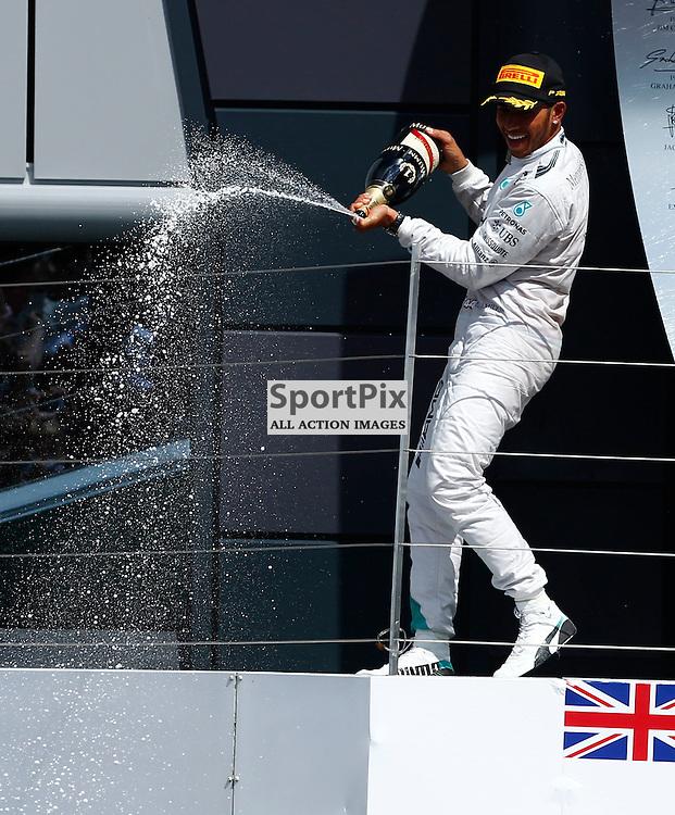 FORMULA 1 SANTANDER BRITISH GRAND PRIX .. Lewis Hamilton winner of the British GP...(c) STEPHEN LAWSON | SportPix.org.uk