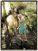 Gary Cosby Jr.-iPhone photographs-<br /> Kids playing in the creek.