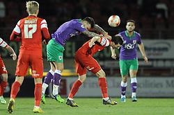 Bristol City's Marlon Pack challenges for the ariel ball with Leyton Orient's David Mooney - Photo mandatory by-line: Dougie Allward/JMP - Mobile: 07966 386802 - 03/03/2015 - SPORT - football - Leyton - Brisbane Road - Leyton Orient v Bristol City - Sky Bet League One