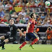 Juan Mata, Spain, in action during the Spain V Ireland International Friendly football match at Yankee Stadium, The Bronx, New York. USA. 11th June 2013. Photo Tim Clayton