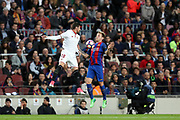IVAN RAKITIC of FC Barcelona duels for the ball with SERGIO ESCUDERO of Sevilla FC during the Spanish championship Liga football match between FC Barcelona and Sevilla FC on April 5, 2017 at Camp Nou stadium in Barcelona, Spain. <br /> Photo Manuel Blondeau / AOP Press / ProSportsImages / DPPI