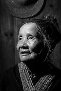 Kaili, Guizhou, China, August 10th 2007: Portrait of a 72 year old Miao woman..Photo: Joseph Feil