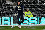 Northampton Town goalkeeper Steve Arnold during the warm up before The FA Cup match between Derby County and Northampton Town at the Pride Park, Derby, England on 4 February 2020.