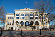 BENTONVILLE, AR - FEBRUARY 15:  Photographs of Benton County Court House on the Square in Bentonville, Arkansas.<br /> CREDIT Wesley Hitt for The Wall Street Journal<br /> WALMART-Bentonville Scene-setters