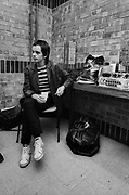 The Vapors backstage 1979