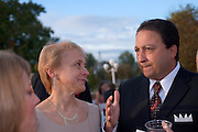 Homecoming 2008: Alumni Awards Gala 9/26/2008.....Medal of Merit:.Jeanne M & Sedat I. Goken talks with Brooke Hallowell