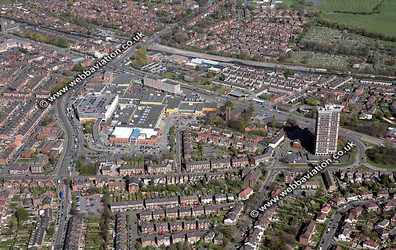 aerial photograph of Stretford Arndale Manchester  England UK