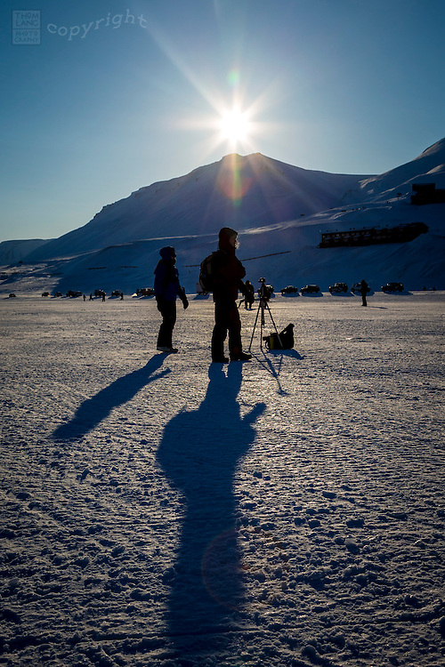 People waiting in Svalbard, Norway during the 2015 total solar eclipse