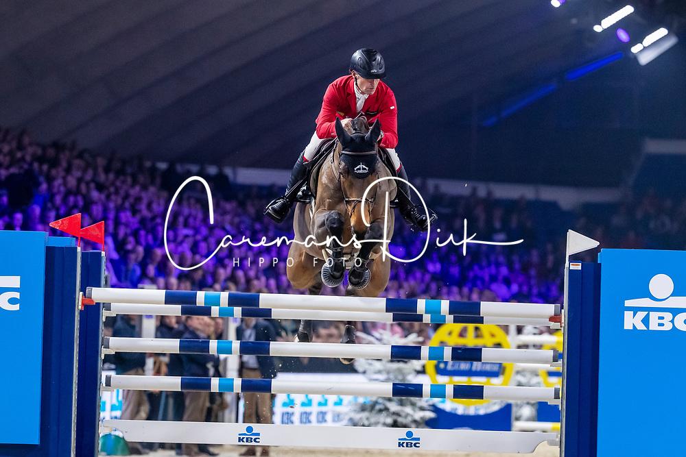 Schwizer Pius, SUI, Quatro Rubin<br /> Jumping Mechelen 2019<br /> © Hippo Foto - Dirk Caremans<br />  27/12/2019