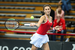 February 7, 2019 - Zielona Gora, Poland - Natalia Vikhlyantseva (RUS)during Tennis 2019 Fed Cup by Paribas Europe/Africa Zone Group 1  match between Russia and Denmark  in Zielona Gora, Poland, on February 7, 2019. (Credit Image: © Foto Olimpik/NurPhoto via ZUMA Press)