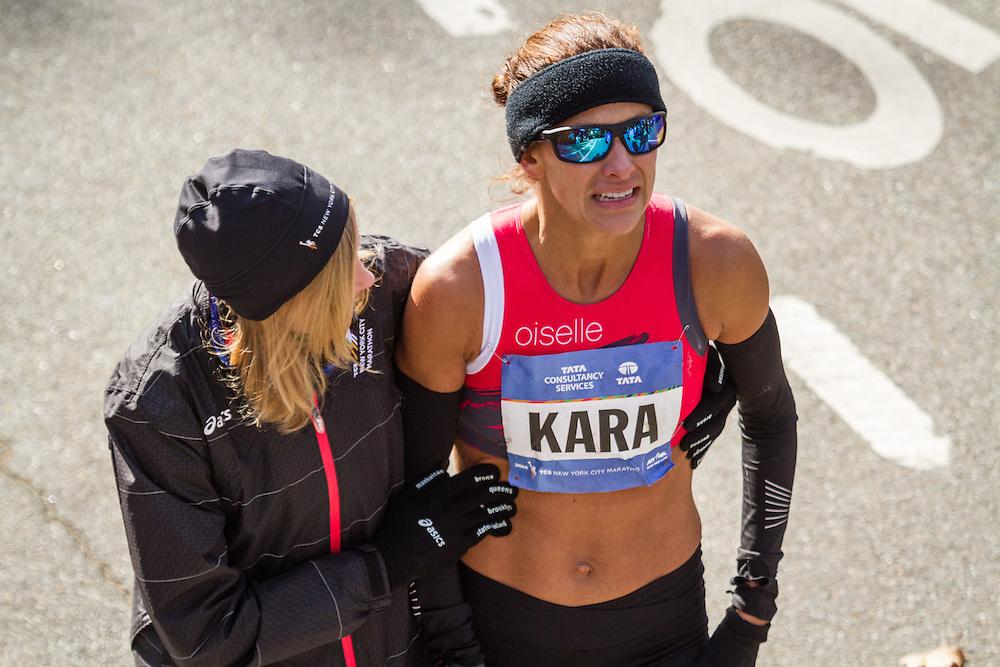 NYC Marathon, Wittenberg consoles Kara Goucher