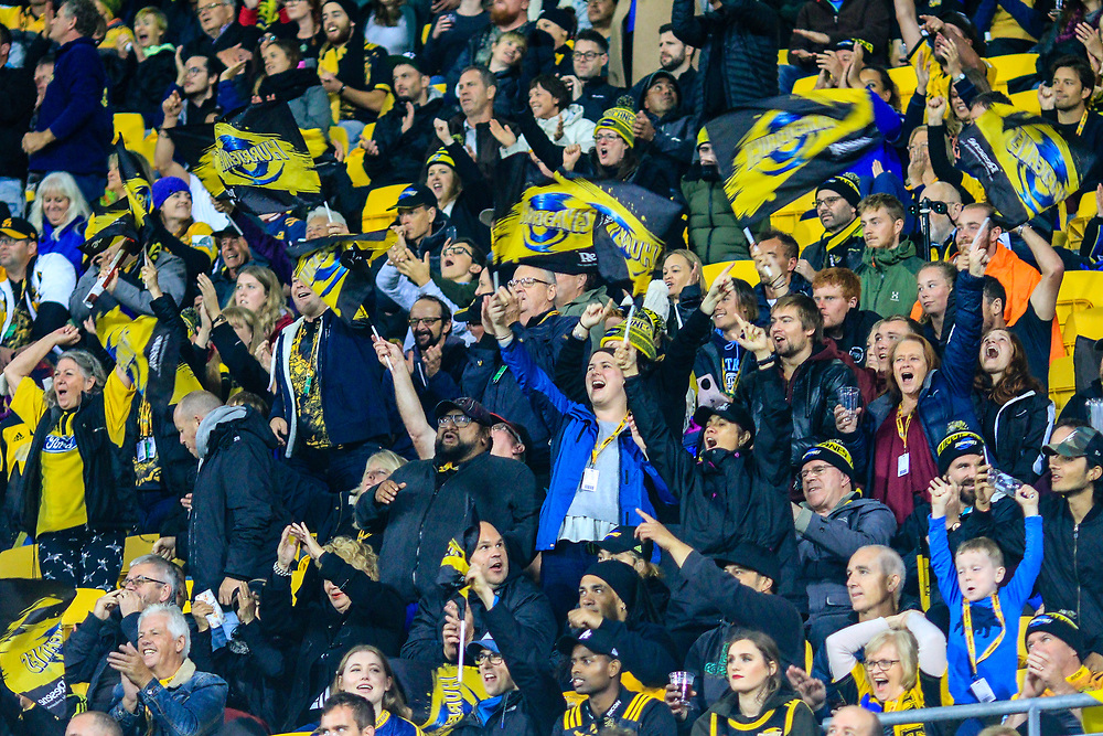 Fans during the super rugby union  game between Hurricanes  and Highlanders, played at Westpac Stadium, Wellington, New Zealand on 24 March 2018.  Hurricanes won 29-12.