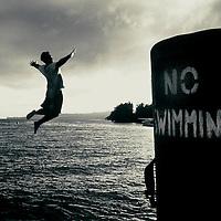 No swimming, Lake Taupo