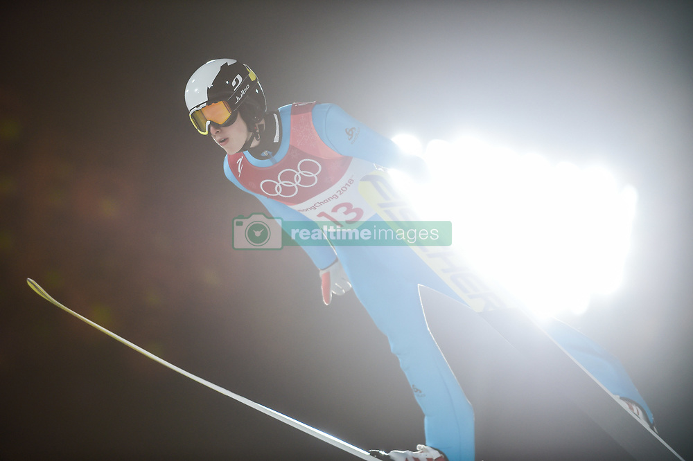 February 10, 2018 - Pyeonchang, Gangwon, South Korea - Jonathan Learoyd of France at mens normal hill final at 2018 Pyeongchang winter olympics at Alpensia Ski Jumping Centre, Pyeongchang, South Korea on February 10, 2018. Ulrik Pedersen/Nurphoto  (Credit Image: © Ulrik Pedersen/NurPhoto via ZUMA Press)