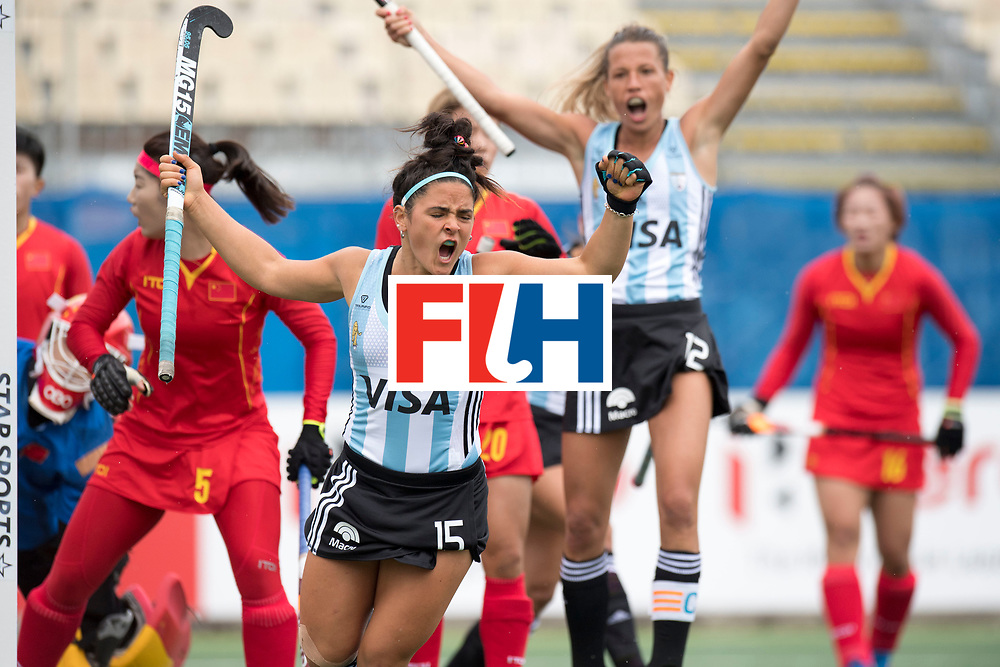 AUCKLAND - Sentinel Hockey World League final women<br /> Match id 10294<br /> 04 Argentina v China.<br /> Foto: goal celebration Maria Granatto.<br /> WORLDSPORTPICS COPYRIGHT FRANK UIJLENBROEK