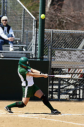 05 April 2008: Lisa Narotsky batting. The Carthage College Lady Reds lost the first game of this double header to the Titans of Illinois Wesleyan 4-1 at Illinois Wesleyan in Bloomington, IL