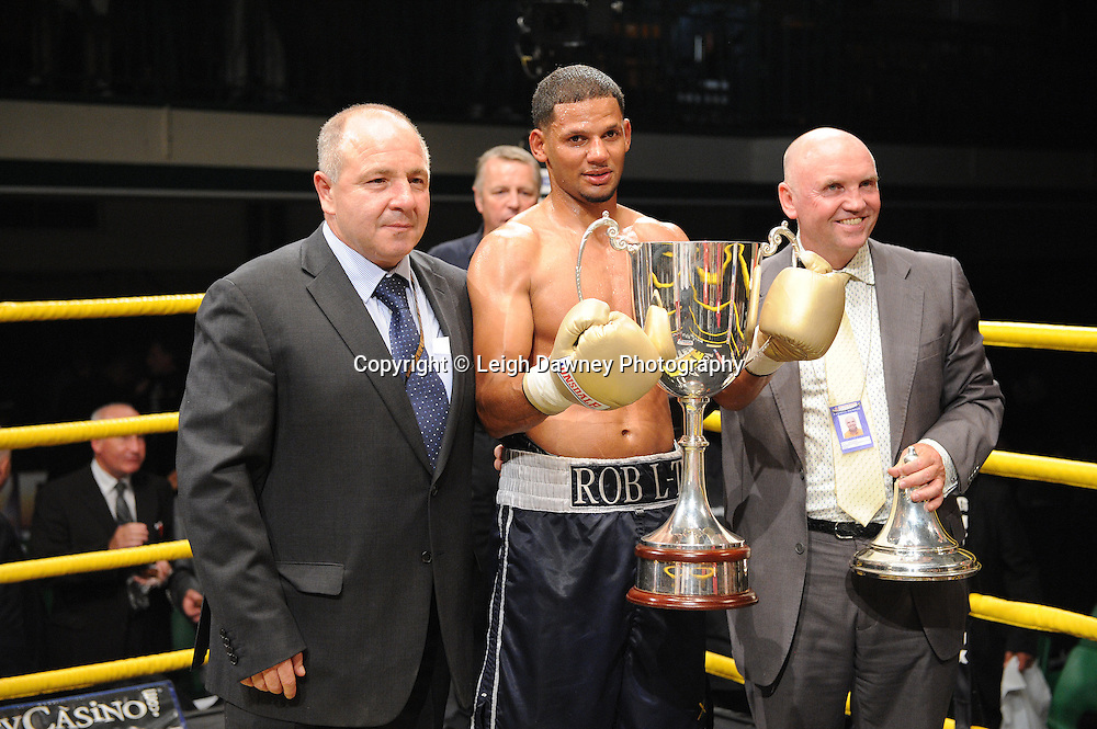 Robert Lloyd defeats Nick Quigley claiming Prizefighter -  The Light Middleweights II. York Hall, Bethnal Green, London, UK. 15th September 2011. Photo credit: © Leigh Dawney.