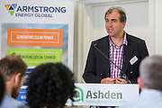 Dominic Brain from Christian Aid the 2015 Ashden International Conference. The Business of Energy: Enterprising Solutions to the Energy Access Challenge. Kings Cross, London, UK. All image use must be credited. © Andrew Aitchison / Ashden