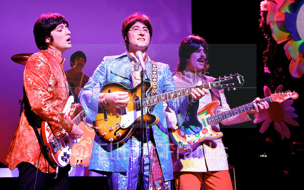 Let It Be<br /> at The Prince of Wales Theatre, London, Great Britain <br /> press photocall<br /> 17th September 2012 <br /> <br /> Emanuele Angeletti (on Bass Guitar)<br /> <br /> Gordon Elsmore (on Drums)<br /> <br /> Reuven Gershon (on Guitar)<br /> <br /> Stephen Hill (on Guitar)<br /> <br /> Photograph by Elliott Franks