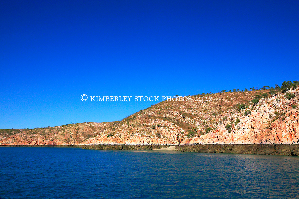 The striking Kimberley coastline in Yampi Sound.