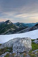 View towards Marriott Basin at dawn, Coast Mountains British Columbia