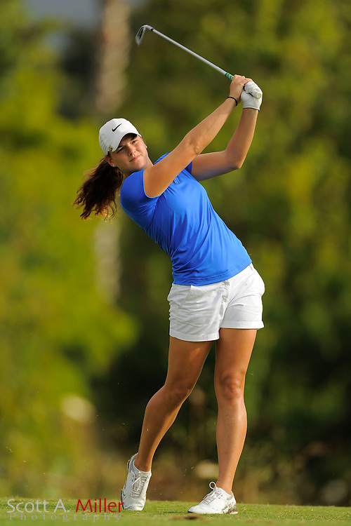 Jaclyn Jansen during the first round of the Symetra Tour Championship at LPGA International on Sept. 26, 2013 in Daytona Beach, Florida. <br /> <br /> <br /> ©2013 Scott A. Miller