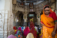 People praying inside a temple in Pushkar, Rajasthan, India