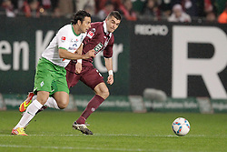 21.01.2012, Petzenberg, Kaiserslautern, GER, 1. FBL, 1.FC Kaiserslautern vs Werder Bremen., 18. Spieltag, im Bild .Claudio PIZARRO (SV Werder Bremen, #24) - Jan SIMUNEK (1.FC Kaiserslautern).., EXPA Pictures © 2012, PhotoCredit: EXPA/ Eibner-Pressefoto / Neis ***** ATTENTION OUT OF GERMANY *****