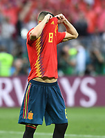 FUSSBALL  WM 2018  Achtelfinale ---- Spanien - Russland       01.07.2018 Koke (Spanien) ist nach seinem verschossenen Elfmeter enttaeuscht