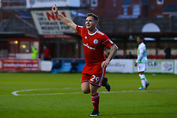 Billy Kee of Accrington Stanley celebrates scoring a goal to make it 1-0 - Mandatory by-line: Robbie Stephenson/JMP - 17/04/2018 - FOOTBALL - Wham Stadium - Accrington, England - Accrington Stanley v Yeovil Town - Sky Bet League Two