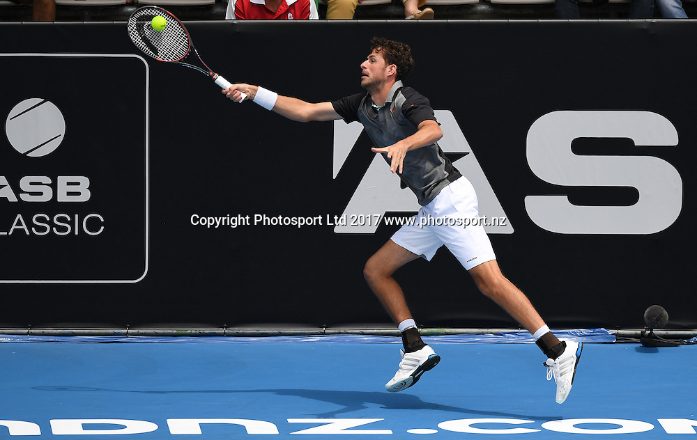 Dutch tennis player Robin Haase during his first round singles match at the ASB Classic. ATP Mens Tennis Tournament. ASB Tennis Centre, Auckland, New Zealand. Monday 9 January 2017. © Copyright photo: Andrew Cornaga / www.photosport.nz