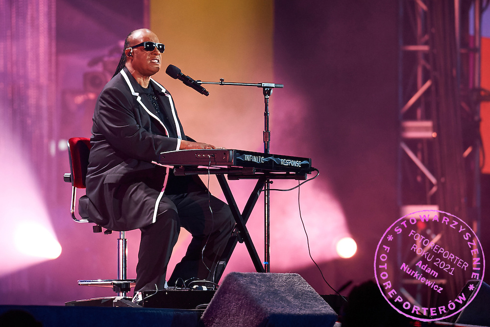 Stevie Wonder sings during opening ceremony of the Special Olympics World Games Los Angeles 2015 at the Los Angeles Coliseum Stadium on July 25, 2015 in Los Angeles, USA.<br /> USA, Los Angeles, July 25, 2015<br /> <br /> Picture also available in RAW (NEF) or TIFF format on special request.<br /> <br /> For editorial use only. Any commercial or promotional use requires permission.<br /> <br /> Adam Nurkiewicz declares that he has no rights to the image of people at the photographs of his authorship.<br /> <br /> Mandatory credit:<br /> Photo by &copy; Adam Nurkiewicz / Mediasport