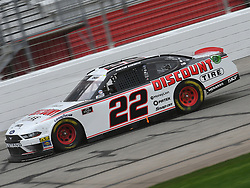 February 23, 2019 - Hampton, GA, U.S. - HAMPTON, GA - FEBRUARY 23: Austin Cindric, Team Penske, Ford Mustang Discount Tire (22) races through the front stretch during the Xfinity Series Rinnai 250 on February 23, 2019, at Atlanta Motor Speedway in Hampton, GA.(Photo by Jeffrey Vest/Icon Sportswire) (Credit Image: © Jeffrey Vest/Icon SMI via ZUMA Press)