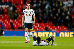 Erik Lamela of Tottenham Hotspur looks dejected agter Chelsea win the Capital One Cup Final - Photo mandatory by-line: Rogan Thomson/JMP - 07966 386802 - 01/03/2015 - SPORT - FOOTBALL - London, England - Wembley Stadium - Chelsea v Tottenham Hotspur - Capital One Cup Final.