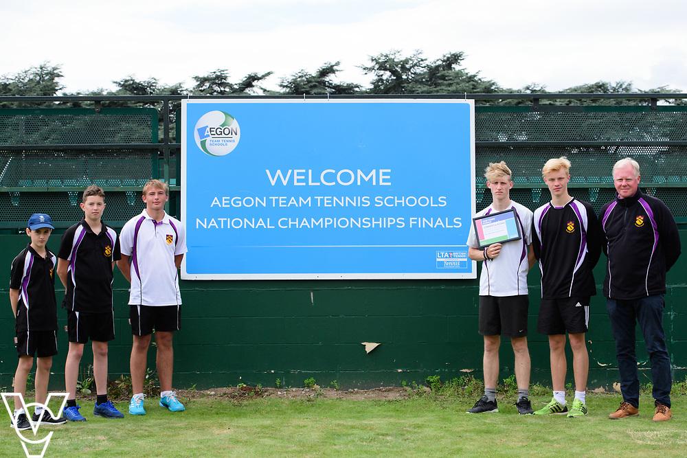 Ellesmere College<br /> <br /> Team Tennis Schools National Championships Finals 2017 held at Nottingham Tennis Centre.  <br /> <br /> Picture: Chris Vaughan Photography for the LTA<br /> Date: July 14, 2017