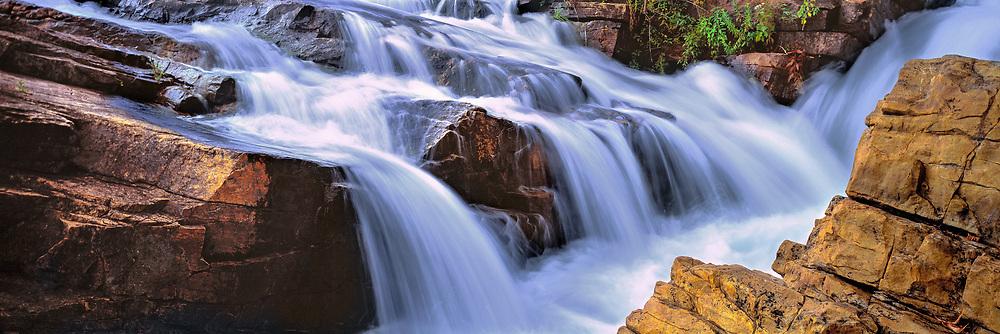 The Falls of Carillon connect Lake Champlain with Lake George at Ticonderoga, New York.