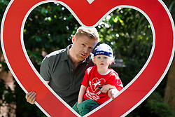 7 June 2013  Heart Children Ireland, a voluntary support group for those affected by congenital heart disorders (CHD), has announced Damien Duff as their new charity ambassador. Damien is father to a young son, Woody, with a congenital heart disorder. Both were in attendance at a event today whereby Heart Children Ireland donated 35 Coagu-Chek machines worth over ?20,000 to the 'Maurice Neligan Congenital Heart Clinic' in the Mater Hospital, Dublin. Picture Andres Poveda