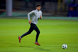 MARIBOR, SLOVENIA - Monday, October 16, 2017: Liverpool's Dominic Solanke during a training session ahead of the UEFA Champions League Group E match between NK Maribor and Liverpool at the Stadion Ljudski vrt. (Pic by David Rawcliffe/Propaganda)