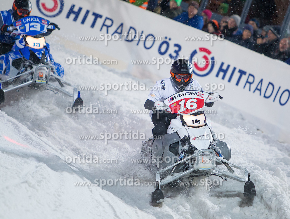 07.12.2014, Saalbach Hinterglemm, AUT, Snow Mobile, im Bild HBRacing // during the Snow Mobile Event at Saalbach Hinterglemm, Austria on 2014/12/07. EXPA Pictures © 2014, PhotoCredit: EXPA/ JFK