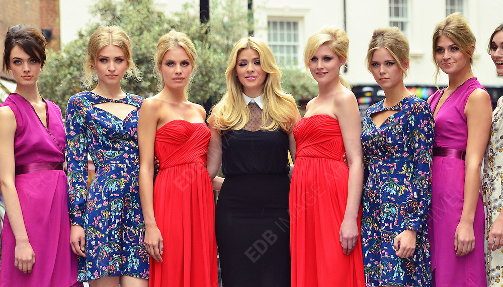 27.JUNE.2012. LONDON<br /> <br /> HOLLY WILLOUGHBY LAUNCHES HER NEW AUTUMN WINTER RANGE FOR VERY.CO.UK AT BROOK ST MEWS, LONDON. <br /> <br /> BYLINE: JOE ALVAREZ/EDBIMAGEARCHIVE.CO.UK<br /> <br /> *THIS IMAGE IS STRICTLY FOR UK NEWSPAPERS AND MAGAZINES ONLY*<br /> *FOR WORLD WIDE SALES AND WEB USE PLEASE CONTACT EDBIMAGEARCHIVE - 0208 954 5968*