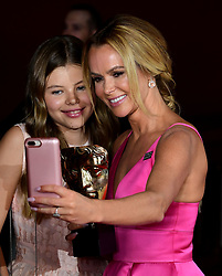 Amanda Holden and daughter Alexa in the press room at the Virgin TV British Academy Television Awards 2018 held at the Royal Festival Hall, Southbank Centre, London.
