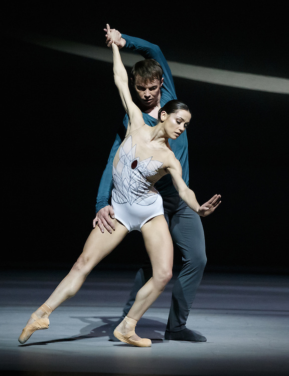 +Embargoed until 7.30pm Tues 19th April '16 + The world premiere of Scottish Ballet's new Swan Lake by David Dawson at The Theatre Royal, Glasgow. Principle dancers Odette: Sophie Martin and Siegfried: Christopher Harrison. Picture Robert Perry 18th April 2016<br /> <br /> Must credit photo to Robert Perry<br /> FEE PAYABLE FOR REPRO USE<br /> FEE PAYABLE FOR ALL INTERNET USE<br /> www.robertperry.co.uk<br /> NB -This image is not to be distributed without the prior consent of the copyright holder.<br /> in using this image you agree to abide by terms and conditions as stated in this caption.<br /> All monies payable to Robert Perry<br /> <br /> (PLEASE DO NOT REMOVE THIS CAPTION)<br /> This image is intended for Editorial use (e.g. news). Any commercial or promotional use requires additional clearance. <br /> Copyright 2014 All rights protected.<br /> first use only<br /> contact details<br /> Robert Perry     <br /> 07702 631 477<br /> robertperryphotos@gmail.com<br /> no internet usage without prior consent.         <br /> Robert Perry reserves the right to pursue unauthorised use of this image . If you violate my intellectual property you may be liable for  damages, loss of income, and profits you derive from the use of this image.