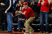 January 9, 2014: Nebraska Cornhuskers fan excited about a good play against the Michigan Wolverines at the Pinnacle Bank Arena, Lincoln, NE. Michigan defeated Nebraska 71 to 70.