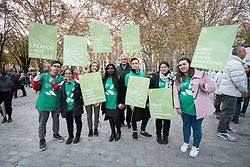 6 December 2019, Madrid, Spain: Lutheran World Federation delegation to COP25. Faith-based participants from the Lutheran World Federation, the World Council of Churches and the ACT Alliance join in as thousands upon thousands of people march through the streets of central Madrid as part of a public contribution to the United Nations climate meeting COP25, urging decision-makers to take action for climate justice.