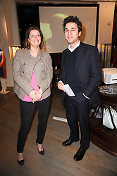 THOMAS VAN STRAUBENZEE and CHLOE HILL at reception to raise funds for a Ugandan School Project supported by the Henry van Straubenzee Memorial Fund held at Few & Far, 242 Brompton Road, London SW3 on 11th February 2010.